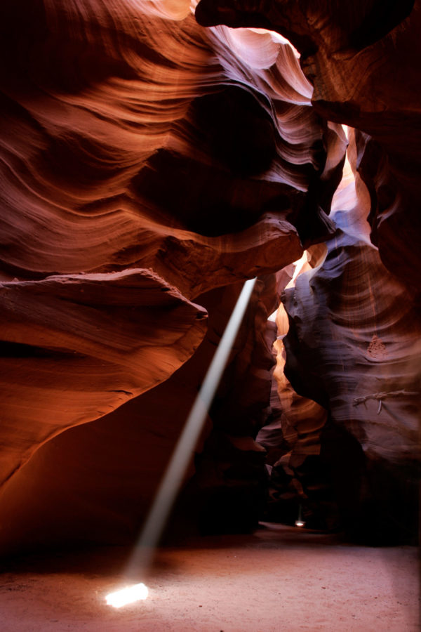 Zonnestraal in Antelope Canyon