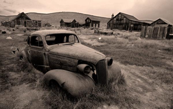 Verlaten mijnstadje Bodie in de VS