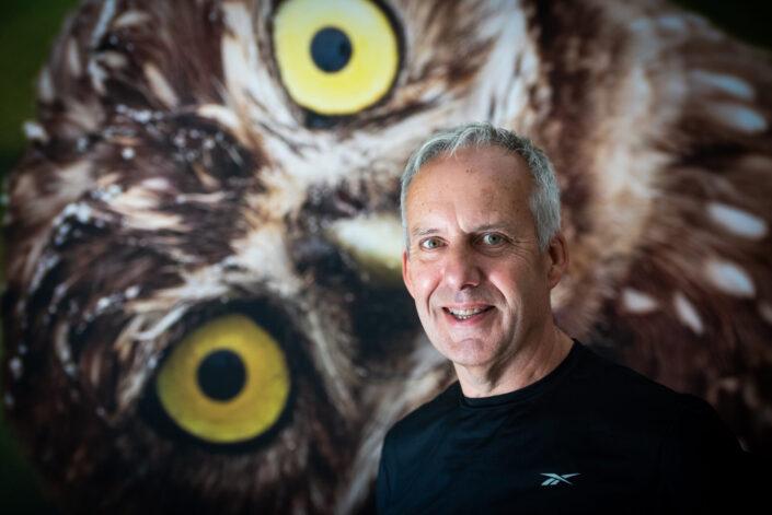Fotograaf Peter Trimbos, gefotografeerd door portretfotograaf Gerrit de Heus